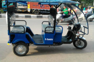 Electric Rickshaw (Blue)